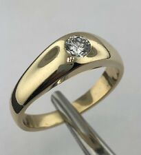 Lady's 14k yellow gold Gypsy setting diamond ring