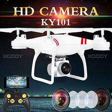 Drone RC Quadcopter With FPV Camera WIFI Gyro 6-Axis Altitude Hold White Gifts