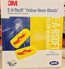 3M 312-1252 EARPLUGS E-A-RSOFT YELLOW NEON BLASTS UNCORDED Foam NRR 33 200 Pairs