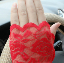 1 x Pair RED Finger-less Fish net Gloves (30% cotton, 70% polyester)
