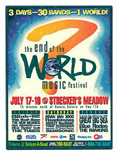 1998 End of the World Music Festival Concert Handbill Blink-182 Blue Oyster Cult
