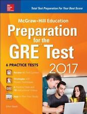 MCGRAW-HILL EDUCATION PREPARATION FOR THE GRE TEST 2017 - NEW PAPERBACK BOOK