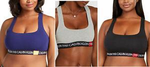 Calvin Klein Women's 1981 Bold Unlined Bralette Bra   3X, 2X, XS, L