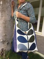 MULTI STEM DarkBlue ORLA KIELY FABRİC-CROSBAG SHOULDER BAG-SHOPPING BAGHANDMADE