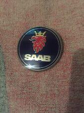 SAAB 9-3 9-5 BADGE 5289905 GENUINE 3 Pin 67mm SNAPPED PIN