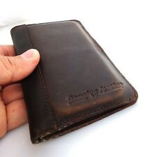 genuine real leather case for iphone 4 4s book wallet cover handmade brown new s