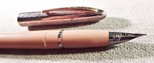 "Sheaffer ""Skripsert"" Cartridge pen, ""F"" Triumph nib, Pink, chrome cap,  VGC"