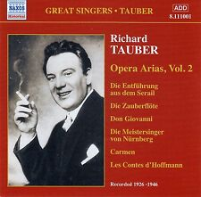 RICHARD TAUBER : OPERA ARIAS, VOLUME 2 / CD (NAXOS HISTORICAL 8.111001)