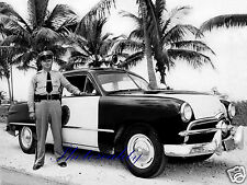 1949 Ford Tudor Florida Highway Patrol Officer with new car 8 x 10 photograph