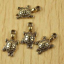 15pcs dark gold-tone turtle charms h2323