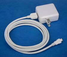 Foldable AC Charger+6ft USB Cable WHITE for Sony Xperia Z2 Tablet Z LTE 4G Wi-Fi