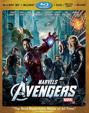 Marvel's The Avengers (2D/3D Blu-ray/DVD/Digital, 4-Disc) w/Lenticular slip, NEW