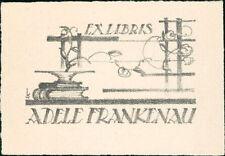 'Adele Frankenau'  Bookplate    (JC.103)