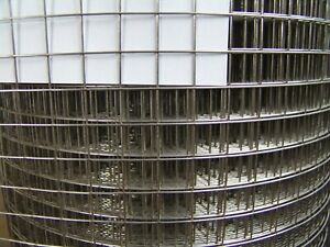 Aviary Wire Stainless Steel (V2A) 1x1m 16x16mm/1,2mm 4eck Wire Punktverschweißt