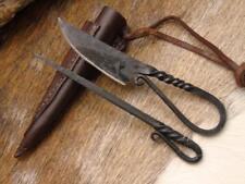 Mittelalter Messer mit Esspfriem +Scheide Wikinger;Kelten handgeschmiedet4190