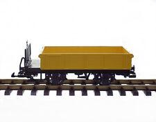 LGB Niederbordwagen gelb Bauwagen Spur G Gartenbahn
