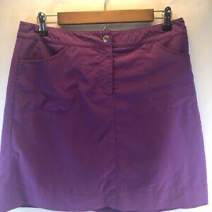 Cutter & Buck Women's Wicking Lightweight Performance Golf Skort Skirt Purple 6