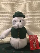 """Sam The Snowman,Rudolph the Red-Nosed Reindeer Plush Toy 8"""" Height, New With Tag"""