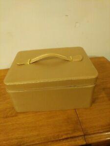 Estee Lauder Cosmetic Medium Gold Case Zip