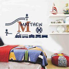 Custom Personalised Name Train Boy Wall Sticker Decal Nursery Decor Art Mural