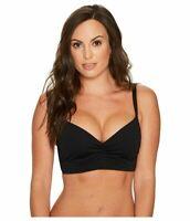 Seafolly Women's 236765 Bralette Black Bikini Top Swimwear Size 8