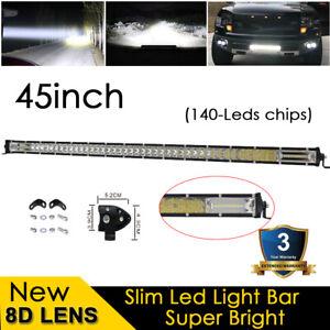 "45"" inch 420W LED Work Light Bar Spot Flood Offroad Driving For Truck ATV SUV"