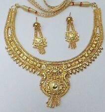 Indian Christmas Gift Elegant Designer Skirt Jewelry 22KGP Necklace Earring #259