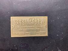 New Sta-Rite brass data tag Antique Gas Engine Hit Miss