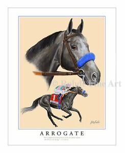ARROGATE horse racing racehorse LIMITED EDITION ART PRINT Rohde equine painting