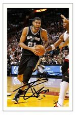 TIM DUNCAN SAN ANTONIO SPURS AUTOGRAPH SIGNED PHOTO PRINT BASKETBALL