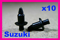 For SUZUKI 10 motor cycle bike fairing panels trim push rivet fastener clips