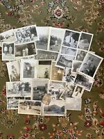 #6 Lot of 35 Vintage Black and White Photographs Snapshots
