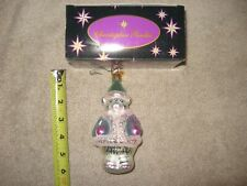 "5"" Christmas Christopher Radko Bear Ornament Rare Mint Condition"