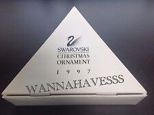 SWAROVSKI rare large 1997 STORAGE dealer box for annual snowflake ornaments !!