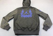 NIKE JORDAN Men Black Destroyer Leather Varsity Snake Hooded Jacket  NWT S  $500