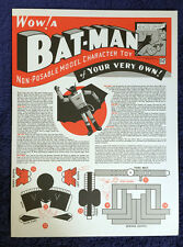 Rare Chris Ware Acme Novelty Library Batman Paper Toy - New & Mint Condition