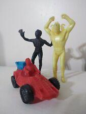 MARVEL SPIDERMAN VINTAGE PLASTIC BOOTLEG FIGURES & CAR LOT MEXICO 1970's