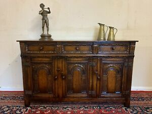 FANTASTIC QUALITY CARVED OAK TITCHMARSH AND GOODWIN DRESSER/SIDEBOARD