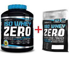 (20,18€/kg) Biotech USA Iso Whey ZERO 2770g - 2270g Eiweiß Dose Plus 500g Beutel