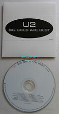 U2 BIG GIRLS ARE BEST CD Single PROMO US INTR-10361-2 CARDSLEEVE