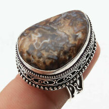 Ring Us 7 Gemstone Jewelry W11620 Turkish Agate Silve Plated Vintage Style