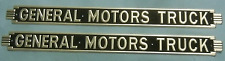 GMC General Motors Truck Hood Bonnet Side Emblem Set 1937