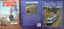Australian Rail At Work + Locomotives of Australia - Leon Oberg - 2 Books, 1 Lot