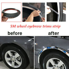 5M*28MM Silver Car Wheel Rubber Eyebrow Lip Arch Trim Fender Strip Durable
