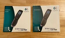 Logitech Harmony One Manual: Installation & Features Manuals ONLY for Remote