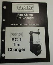 USED - Coats RC-1 Tire Changer Operating Instructions Manual