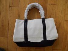 NEW Per Una M&S  BIG handbag WHITE and BLACK 10 x 15x 6 inches