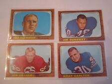 (12) 1966 NFL FOOTBALL CARDS - EX MINT CONDITION - SEE PHOTOS - LOT 1 OFC E