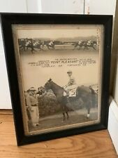 Orig. Willie Shoemaker 1958 Antique Horse Racing Win Shot Photograph Jamaica NY