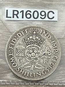 George VI, Florin, 2 Shillings, 1943, 0.500 Silver
